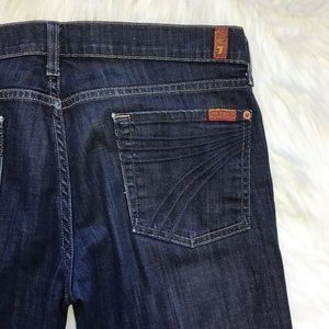 7 For All Mankind Jeans - 7 for all Mankind crop DOJO dark denim jeans 30
